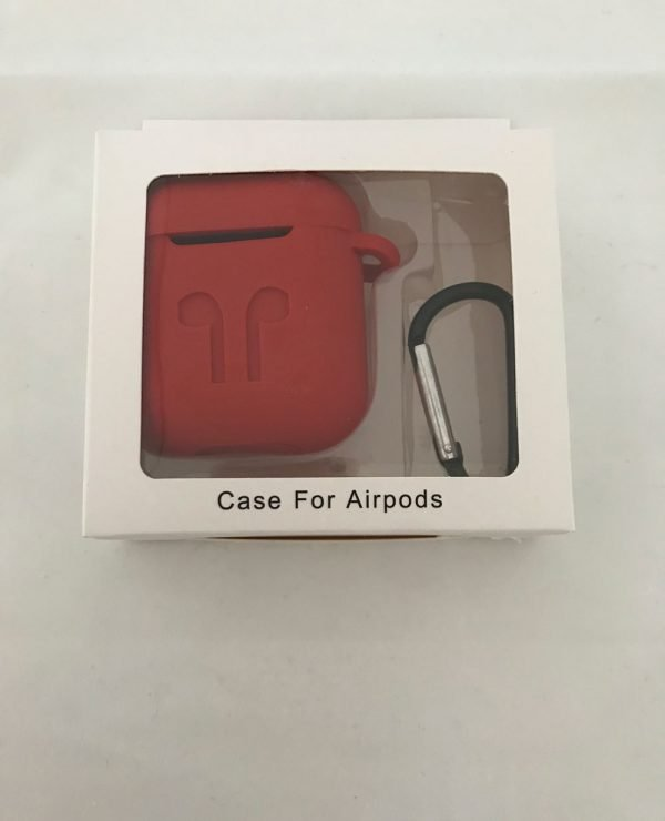 Case-Cover-Voor-Apple-Airpods---Siliconen-rood