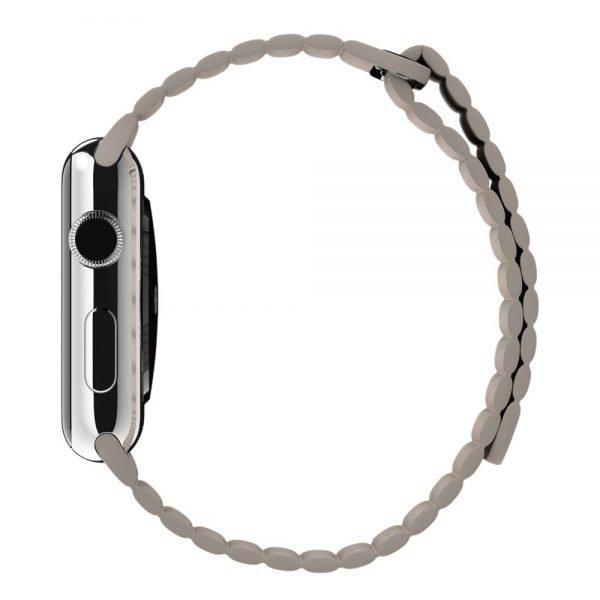 PU leather loop bandje voor de Apple watch 38mm - 40mm bandje - Kaki_1007