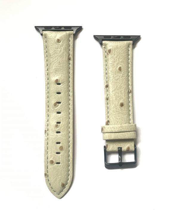 Struisvogel leren bandje met klassieke gesp voor Apple Watch 38mm |40mm | 42mm | 44mm Iwatch Series 89.jpeg
