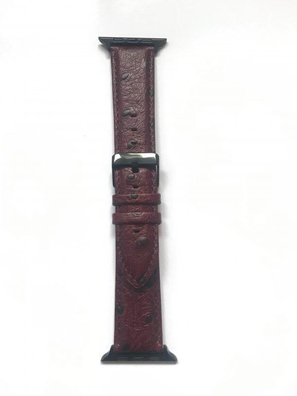 Struisvogel leren bandje met klassieke gesp voor Apple Watch 38mm |40mm | 42mm | 44mm Iwatch Series 09.jpeg