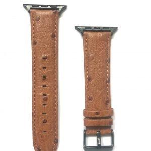 Struisvogel leren bandje met klassieke gesp voor Apple Watch 38mm |40mm | 42mm | 44mm Iwatch Series 12.jpeg