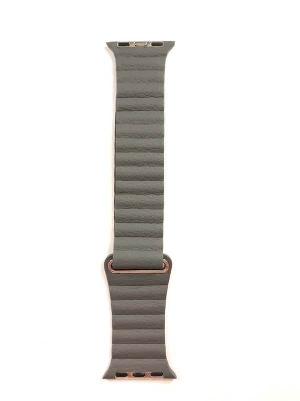 IPU leather loop bandje voor de Apple watch 38mm - 40mm bandje - Donker grijs 2