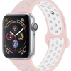 Rubberen sport bandje voor de Apple Watch 42mm - 44mm S/M - Rose Wit voor Series1, Series 2 en de Nike Editie