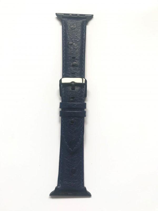Struisvogel leren bandje met klassieke gesp voor Apple Watch 38mm |40mm | 42mm | 44mm Iwatch Series 01
