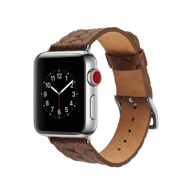 Apple-Watch-bandje-bruin-vleer-gevlochten-met-zilverkleurige-gesp-1.jpg