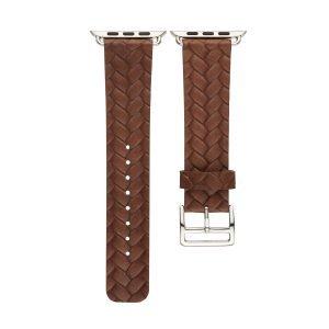 Apple-Watch-bandje-bruin-vleer-gevlochten-met-zilverkleurige-gesp-3.jpg