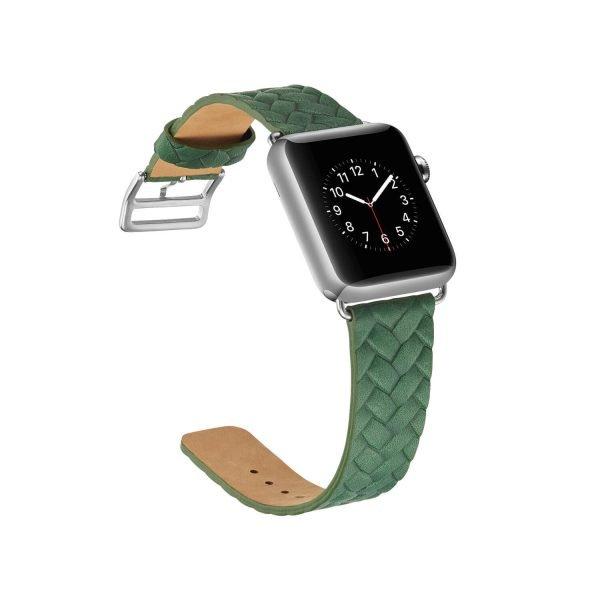 Apple-Watch-bandje-leer-groen-gevlochten-met-zilverkleurige-gesp-4.jpg