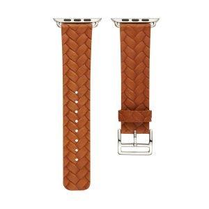 Apple-Watch-bandje-oranje-vleer-gevlochten-met-zilverkleurige-gesp-3.jpg