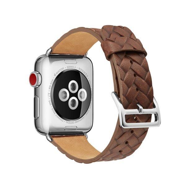 Apple-Watch-bandje-rood-vleer-gevlochten-met-zilverkleurige-gesp-2-.jpg
