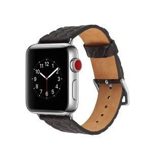 Apple-Watch-bandje-zwart-vleer-gevlochten-met-zilverkleurige-gesp-1.jpg