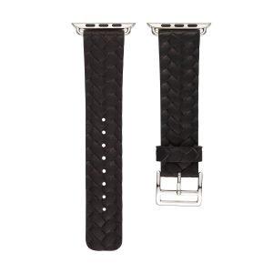 Apple-Watch-bandje-zwart-vleer-gevlochten-met-zilverkleurige-gesp-3.jpg