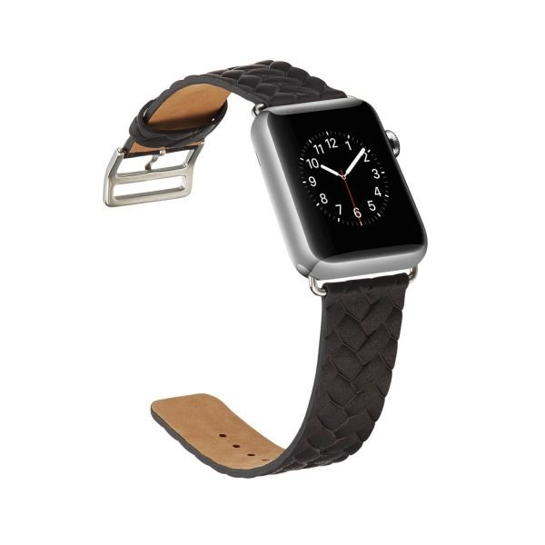 Apple-Watch-bandje-zwart-vleer-gevlochten-met-zilverkleurige-gesp-4.jpg