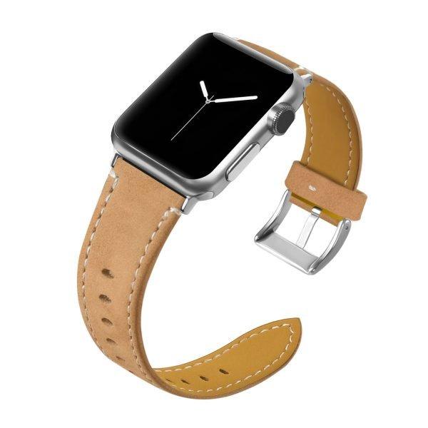 Leren-bandje-Apple-Watch-met-zilverkleurige-gesp-lichtbruin-1.jpg