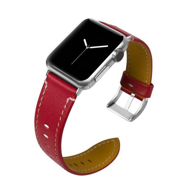 Leren-bandje-Apple-Watch-met-zilverkleurige-gesp-rood-1.jpg