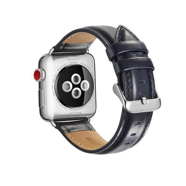 leren apple watch bandje blauw 1