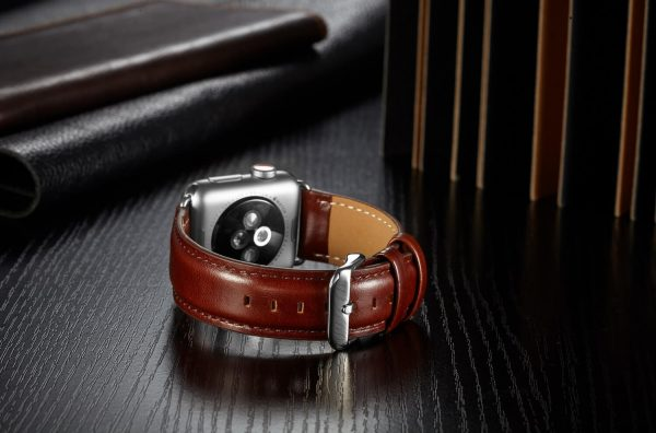 leren apple watch bandje bruin 6