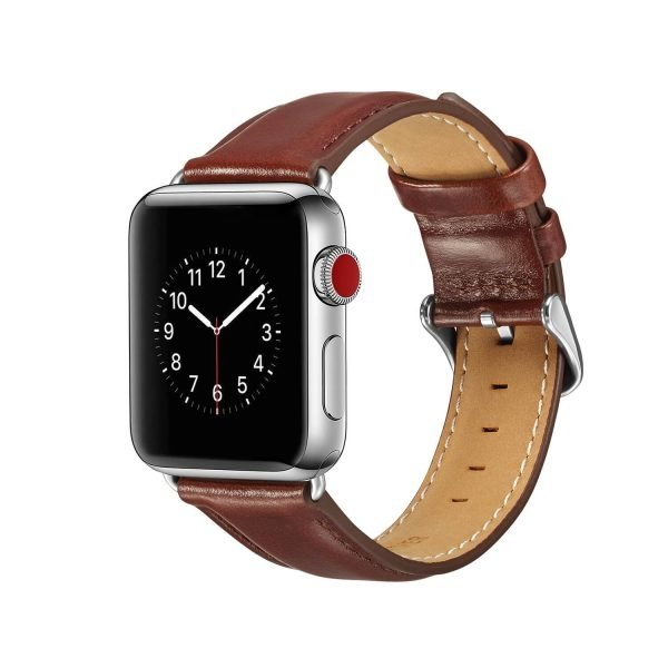 leren apple watch bandje bruin2