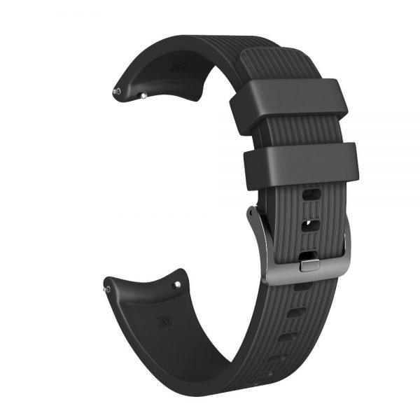 Bandje Voor de Samsung Gear S3 Classic - Frontier - Siliconen Samsung Galaxy Watch 46mm -zwart_0002004