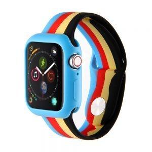 Apple watch 4 en 5 bandje 42mm - 44mm large siliconen blauw - rood - geel - zwart_001