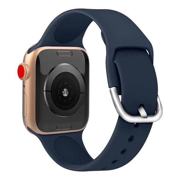 Apple watch bandje silicone met D sluiting 42mm-44mm donkerblauw_006