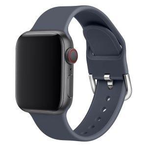 Apple watch bandje silicone met D sluiting 42mm-44mm donkergrijs_005