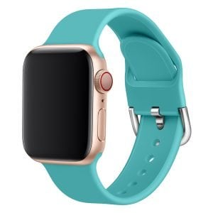 Apple watch bandje silicone met D sluiting 42mm-44mm mint_005