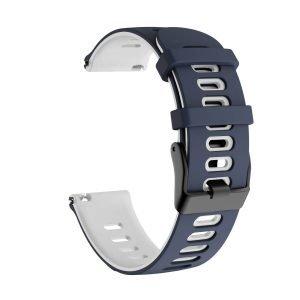 Samsung Gear S3 Sport bandje (22mm) dual - Galaxy Watch 46mm SM-R810 blauw - wit_003