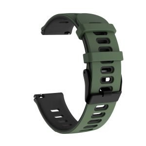 Samsung Gear S3 Sport bandje (22mm) dual - Galaxy Watch 46mm SM-R810 donkergroen - zwart_002