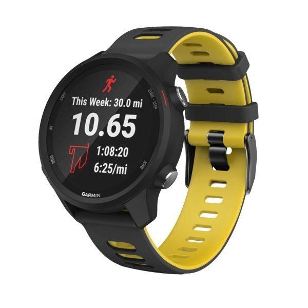 Samsung Gear S3 Sport bandje (22mm) dual - Galaxy Watch 46mm SM-R810 zwart - geel_001