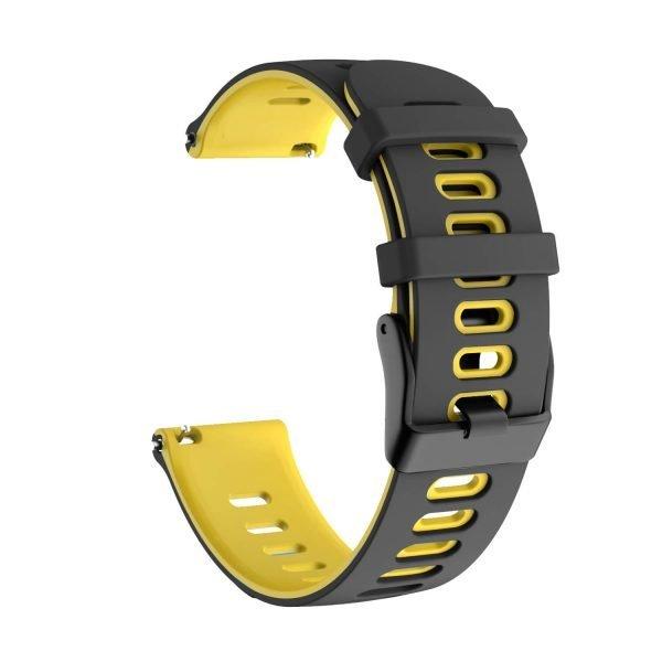 Samsung Gear S3 Sport bandje (22mm) dual - Galaxy Watch 46mm SM-R810 zwart - geel_002