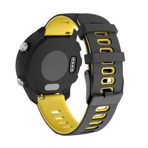 Samsung Gear S3 Sport bandje (22mm) dual - Galaxy Watch 46mm SM-R810 zwart - geel_003