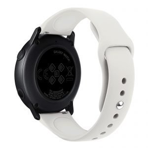 Samsung Gear Sport bandje Samsung galaxy watch active 1 - 2 Galaxy Watch 42mm SM-R810 bandje silicone beige 20mm-001