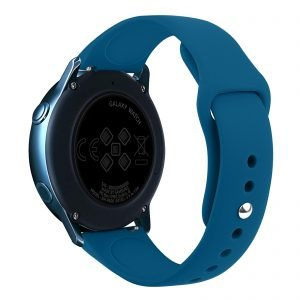 Samsung Gear Sport bandje Samsung galaxy watch active 1 - 2 Galaxy Watch 42mm SM-R810 bandje silicone blauw 20mm-001