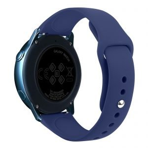 Samsung Gear Sport bandje Samsung galaxy watch active 1 - 2 Galaxy Watch 42mm SM-R810 bandje silicone donkerblauw 20mm-001