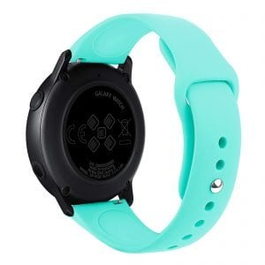Samsung Gear Sport bandje Samsung galaxy watch active 1 - 2 Galaxy Watch 42mm SM-R810 bandje silicone mint 20mm-001