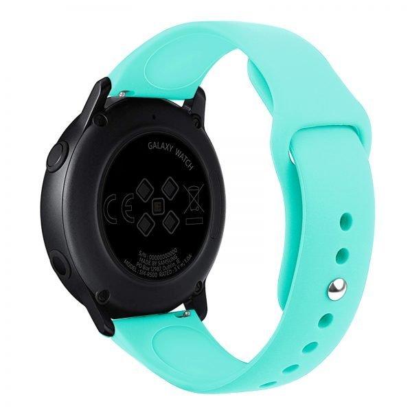Samsung Gear Sport bandje Samsung galaxy watch active 1 - 2 Galaxy Watch 42mm SM-R810 bandje silicone mint 20mm-001