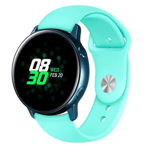 Samsung Gear Sport bandje Samsung galaxy watch active 1 - 2 Galaxy Watch 42mm SM-R810 bandje silicone mint 20mm-002