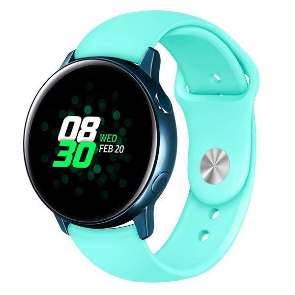 Samsung Gear Sport bandje Samsung galaxy watch active 1 - 2 Galaxy Watch 42mm SM-R810 bandje silicone mint 20mm-002