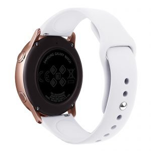 Samsung Gear Sport bandje Samsung galaxy watch active 1 - 2 Galaxy Watch 42mm SM-R810 bandje silicone wit 20mm-001