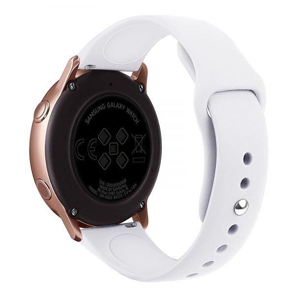 Samsung Gear Sport bandje Samsung galaxy watch active 1 - 2 Galaxy Watch 42mm SM-R810 bandje silicone wit 20mm-001
