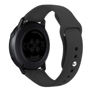 Samsung Gear Sport bandje Samsung galaxy watch active 1 - 2 Galaxy Watch 42mm SM-R810 bandje silicone zwart 20mm-001